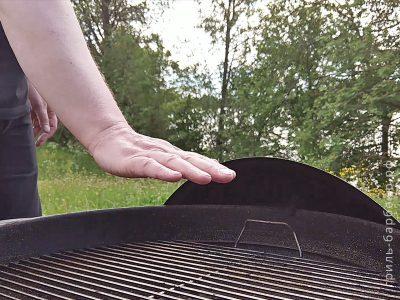 Как определить температуру гриля рукой