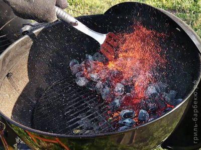 Как распределять угли на решетке