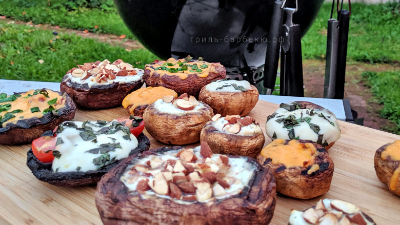 Грибы портобелло на гриле (видео)