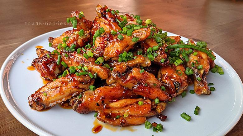 Куриные крылышки в воке по-китайски (видео)
