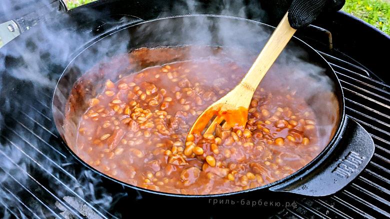 Свинина с фасолью (pork and beans) на гриле (видео)